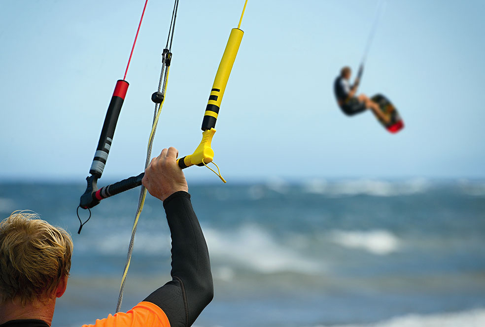 Kite-surfer en Tarifa