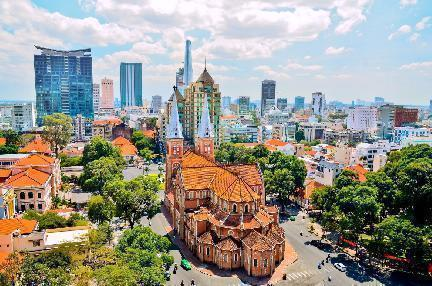Ho chi minh, catedral, Vietnam