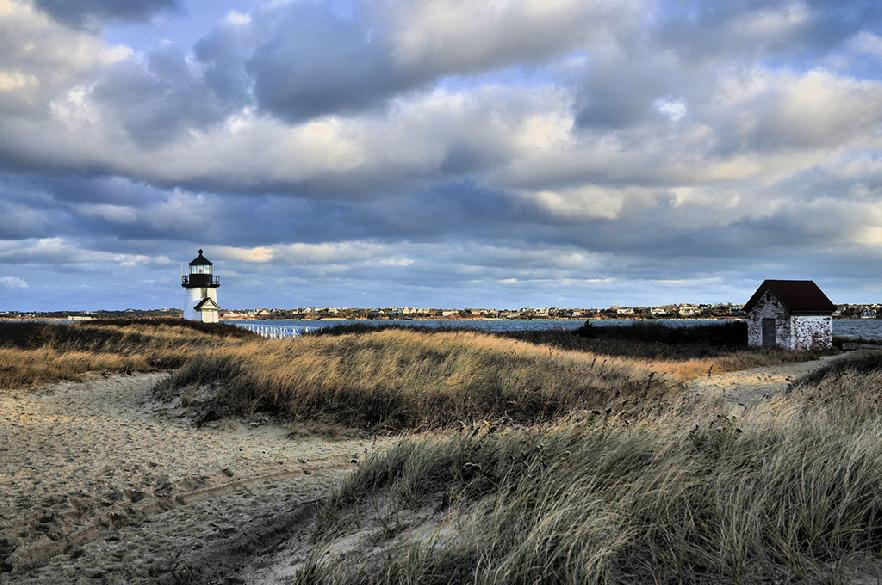Brant Point Lighthouse en la isla de Nantucket, Massachusetts