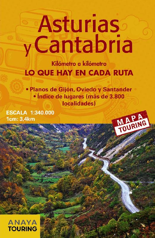 Mapa De Carreteras Anaya Touring